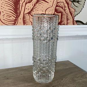 Hobnail cylinder vase vintage assorted beaded